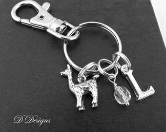 LLama Bag Charm, LLama KeyRing, LLama KeyChain, LLama Gifts, Alpaca Clip Keyring, Alpaca Key Chain, Personalised Alpaca Gifts