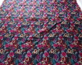 Liberty of London vintage Varuna wool multi-coloured shawl, fabulous condition, lovely colours.  138 cm x 135 cm