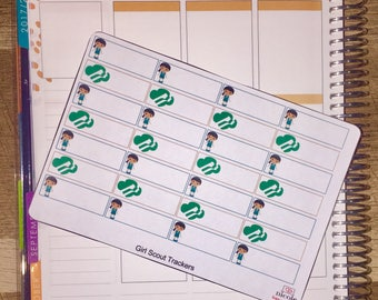 Girl Scouts Tracker Planner Stickers for use with Erin Condren Life Planner and other planners