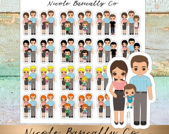 Family Planner Stickers- One Child- All combinations available