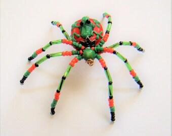 Peach & Green  Spider- Kathy