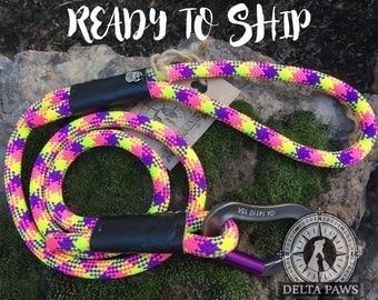 READY to SHIP! 4FT Coachella Leash || Rock Climbing Rope Dog Leash || Handmade in the USA