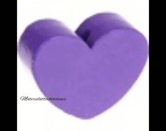 Purple Heart wood bead