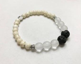 Dyed White Howlite Diffuser Bracelet