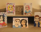 Personalised watercolour caricature