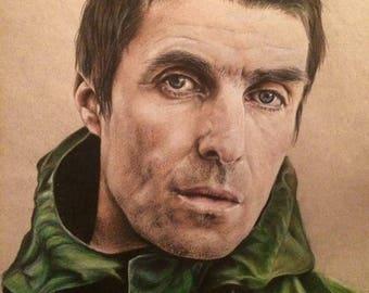 A4 Liam Gallagher print, oasis print, britpop, music print