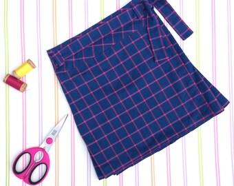 Organic kilt, girls blue kilt, Christmas skirt, kilt, girls skirt, girls pleated skirt, plaid kilt, girls cotton skirt, gifts for girls