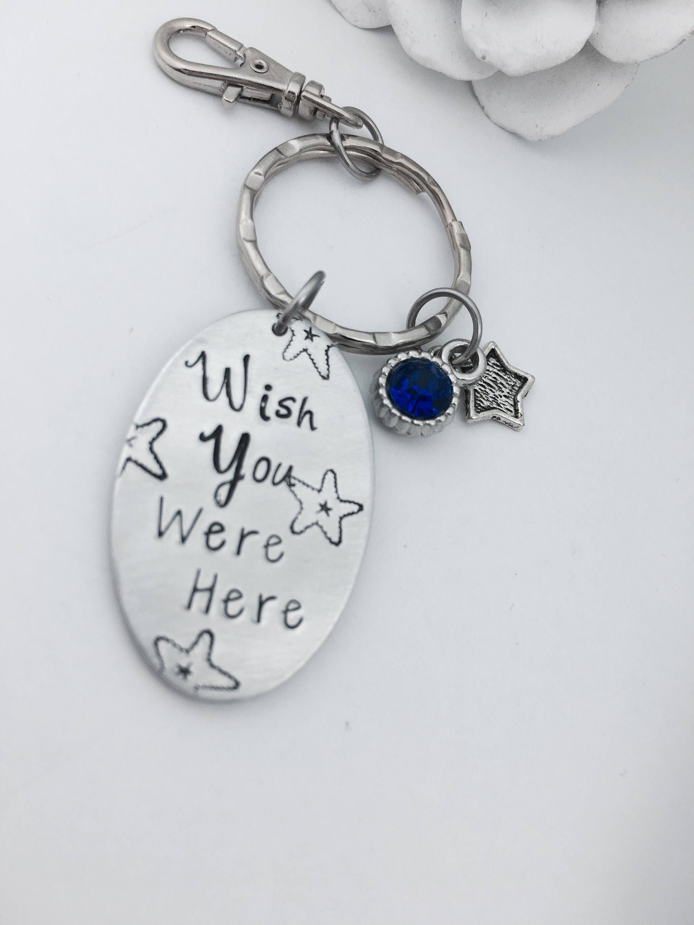 Christmas Gifts for Sister, Wish You Were Here, Keyring, Long ...