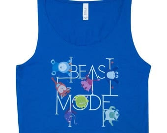 Pole Dance Cropped Tank | Beast Mode