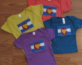 Organic Cotton Colorado Love Baby T-shirts