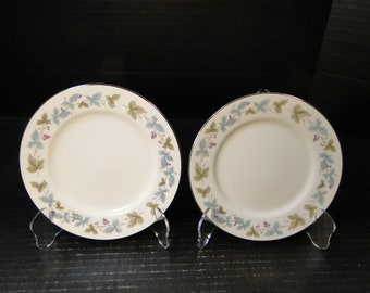 """TWO Fine China of Japan Vintage Bread Plates 6 1/2"""" 6701 Set of 2 EXCELLENT!"""
