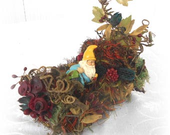Handmade Woodland Fairy, Faerie Garden Furniture Miniature Gypsy Bed By Willow Bloome