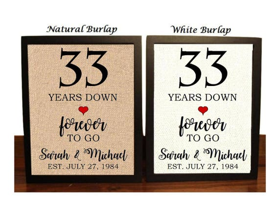 12th Year Wedding Anniversary Gifts: 33rd Anniversary Gift 33rd Wedding Anniversary Gift Gift