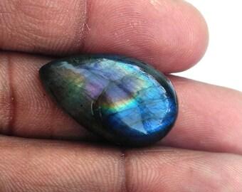 50% Off Christmas Offer Purple Labradorite Gemstone, Cabochon, shape pear, 17.90 ct, 23x14x6 mm, AM22