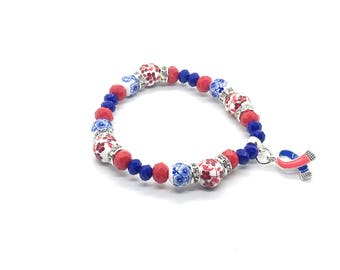 CHD Bracelet - Chd Jewelry - CHD Awareness - Congenital Heart Defect Awareness Bracelet - Chd Mom - Chd mom Bracelet - Chd Gift - Chd Mother