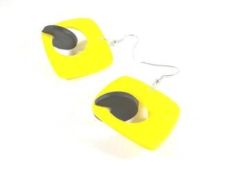 3D - designer jewelry yellow earrings © PIER'LI
