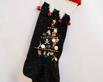 Knit Christmas Stocking Personalized Jake and the Neverland Pirates