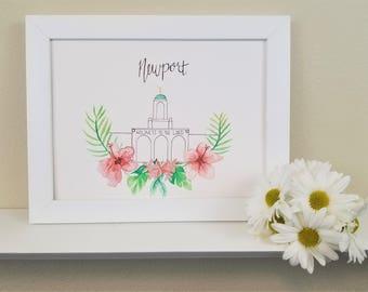 LDS Newport California Temple Print