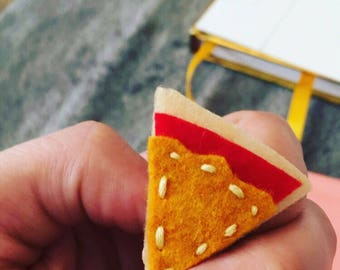 Felt Cheese Pizza Pin