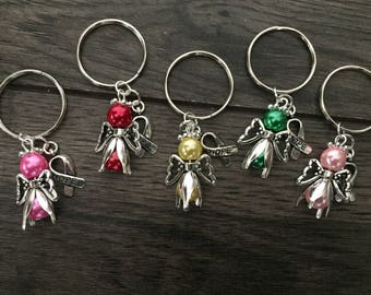 Awareness keyring- fibromyalgia-scoliosis-asthma-diabetes-cancer-awareness bag charm-awareness gift