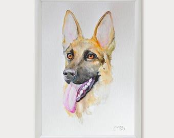 Pet Portrait, Custom Pet Portrait Watercolor Painting, Dog Portrait, Pet Portrait from Photo, Pet, Cat, Dog Lover Gift, Original Painting