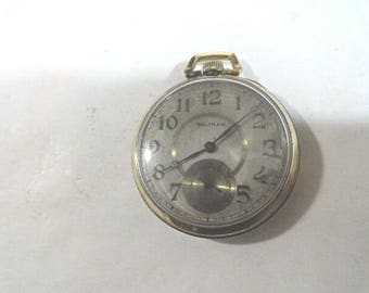 1915 Waltham Pocket Watch 17 Jewel Gold Filled Case Running Size 10 43mm
