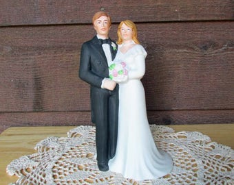Traditional Wedding Cake Topper | Ceramic Wedding Cake Topper