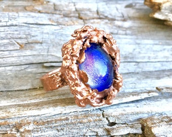 gift for men, Mens mood ring, Moodring, mood ring, Mood stone ring, gift, mistical ring, goth ring, steampunk ring, copper ring, stat