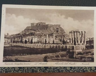 Greece 1920 Old Post Card Athenes Akropolis Eastern View Temple Ruins