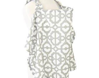 Mod | Gray and White Nursing Cover