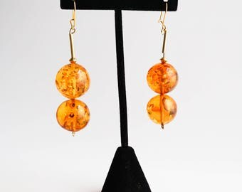 Amber earrings 16g