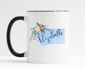 Montana Mug / Personalized Mug / Custom State Mug / Friend Gift / Montana Gift /  11 or 15 oz / Going Away Gift / Moving Gift