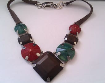 silver coloured Jaeger necklace