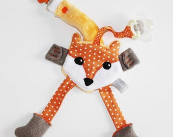 Pacifier toy Fox minkee and cotton.