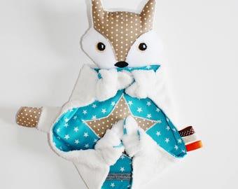 Cuddly plush Ti.Fox creation P snow Fox ' little face.