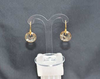 Swarovski crystals 925 silver and crystal earrings Victory crystal golden shadow