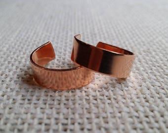 100 Polished 1/4' 18 Gauge Copper Ring Blanks- Flat
