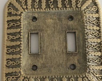 Vintage Double Switch Plate, American Tack and Hardware