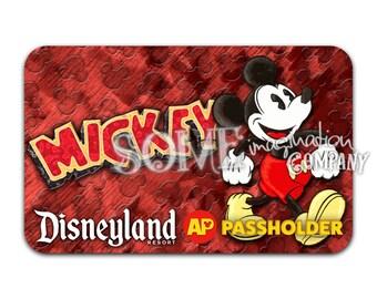 Mickey Mouse Disneyland Passholder Sticker