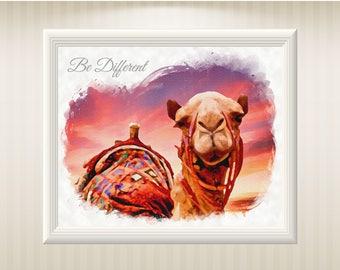 Printable Camel Home decor art prints decor Digital painting Decor painting Printable decor art Room decor Wall decor Gift download
