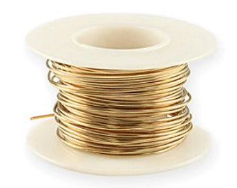 14K Gold Filled Wire 1 oz Spool 20 Gauge Round Half-Hard Craft DIY Jewelry Making Beading Supplies Cab Wire Wrap Pendant 21.75 feet