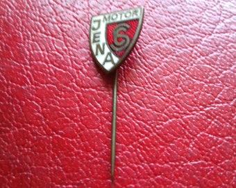 Vintage enameled pin badge SC MOTOR JENA  Germany ddr