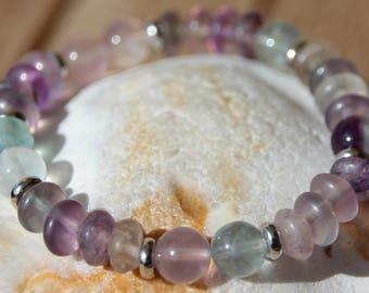 fluorite bracelet semi precious beads