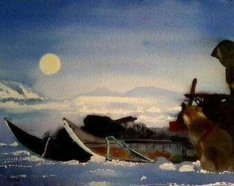 North Pole 1: watercolor 58 x 38 cm