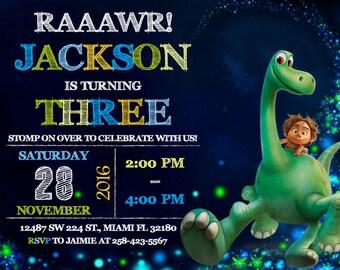 The Good Dinosaur Invitation Birthday The Good Dinosaur Party