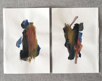 Watercolor Abstract, No. 5 & 6