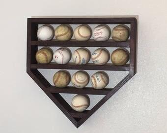 Baseball Shelf, Baseball Display Shelf, Home Plate Baseball Shelf, Home Plate Shadow Box, Baseball Shadow Box
