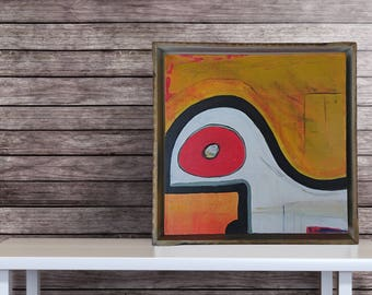 Abstract Painting, Framed Painting, Original Abstract, Modern Art, Stretched Canvas, Modern Abstract, Handmade, Wall Art, Acrylic Painting