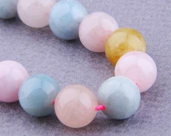 12mm Morganite Beads , Gemstone Beads ,  Natural Morganite Beads , Round Morganite Beads Polished , Beading Supplies , 15.5 inch Full strand