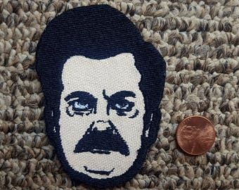 Parks and Recreations Ron Swanson, Nick Offerman Face Patch